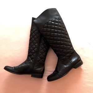 Gorgeous Corso Como quilted leather riding boots 6